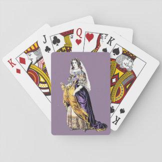 ~ KOSTÜMIERT ~ eine Dame von Durchschnitte ~ ~ Spielkarten