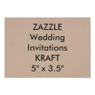 """KRAFTPAPIER 100lb 5"""" x 3,5"""" Hochzeits-Einladungen 8,9 X 12,7 Cm Einladungskarte"""