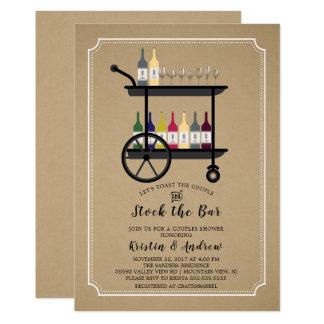 Kraftpapier-Vorrat die Bar-Paar-Duschen-Einladung Karte