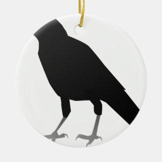 Krähe Keramik Ornament