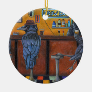 Krähen-Bar Keramik Ornament