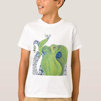 Krake entfernter Hintergrund T-Shirt
