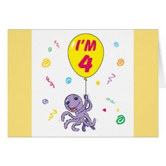 Kraken-4. Geburtstag Karte