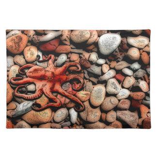 Kraken-Kiesel Stofftischset