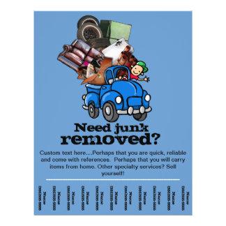 Kram-oder Abfall-Abbau-Geschäft Promo-Flyer templ 21,6 X 27,9 Cm Flyer