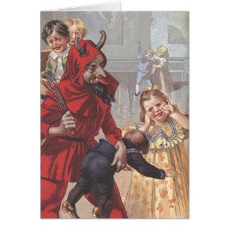 Krampus außerordentliches Kind Grußkarte