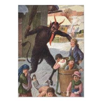Krampus, das Entführungs-Kinderwinter bestraft 12,7 X 17,8 Cm Einladungskarte