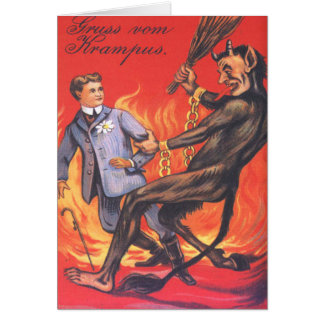 Krampus, das Erwachsenen bestraft Karten