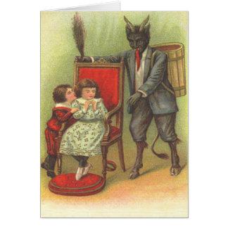Krampus, das für schlechte Kinder kommt Karten