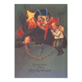 Krampus, das Kind bestraft 12,7 X 17,8 Cm Einladungskarte