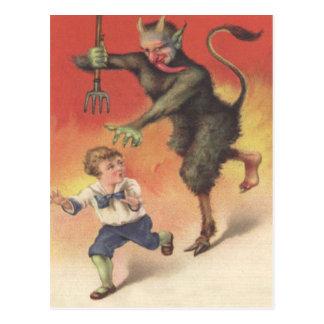 Krampus das Kind jagt