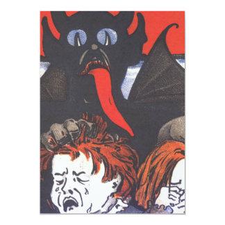 Krampus, das Kinder bestraft 12,7 X 17,8 Cm Einladungskarte