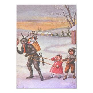Krampus, das Kinder u. Spielwaren stiehlt 12,7 X 17,8 Cm Einladungskarte