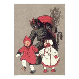 Krampus, das Kinderschalter jagt 12,7 X 17,8 Cm Einladungskarte