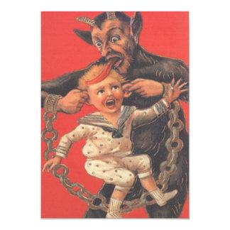 Krampus, das Little Boy bestraft 12,7 X 17,8 Cm Einladungskarte