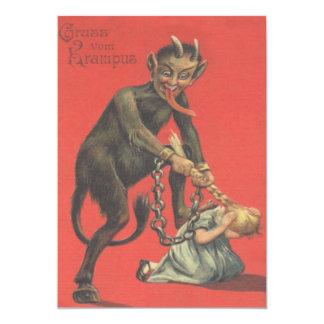 Krampus, das Mädchen bestraft 12,7 X 17,8 Cm Einladungskarte