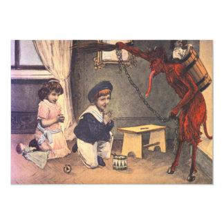Krampus, das schlechte Kinder entführt 12,7 X 17,8 Cm Einladungskarte