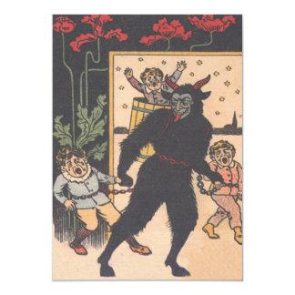 Krampus, das schlechte Kinder wegnimmt 12,7 X 17,8 Cm Einladungskarte