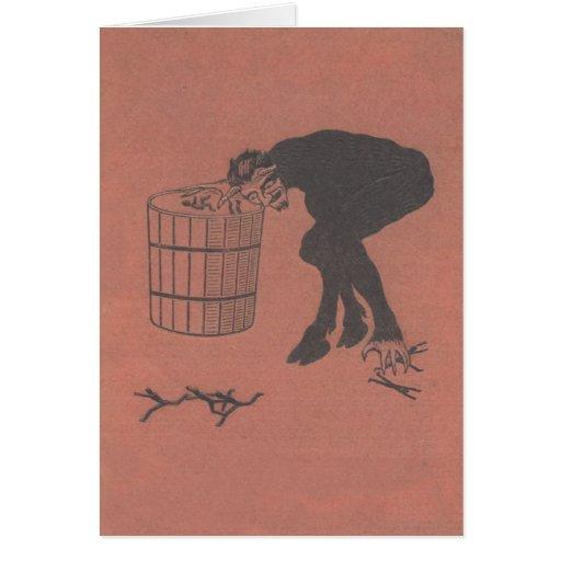 Krampus, das schlechte Leute sammelt Grußkarte