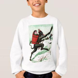 Krampus, das schlechten Kinderwinter-Schnee jagt Sweatshirt