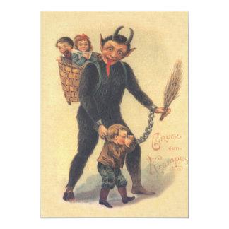 Krampus, das schlechtes Kind bestraft 12,7 X 17,8 Cm Einladungskarte