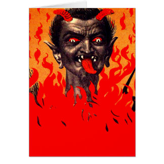 Krampus, das von der Hölle auftaucht Grußkarte