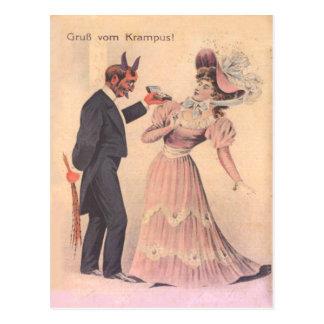 Krampus das zur Frau vorschlägt