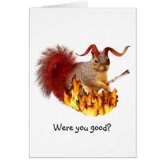 Krampus Eichhörnchen-Karte Grußkarte