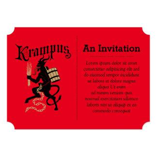 Krampus 12,7 X 17,8 Cm Einladungskarte