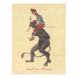 Krampus Entführungs-Erwachsener Postkarten