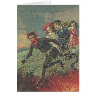 Krampus Entführungs-Kinder Grußkarten