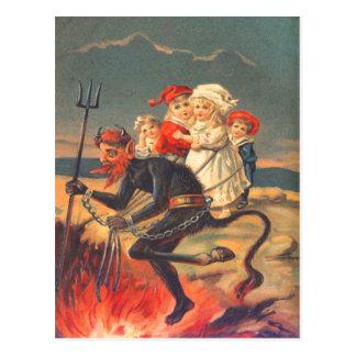 Krampus Entführungs-Kinder Postkarte