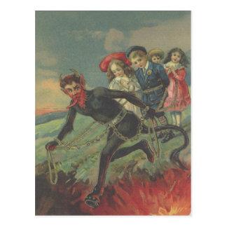 Krampus Entführungs-Kinder Postkarten