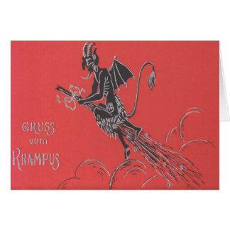 Krampus Fliegen auf Besen Karten