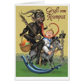 Krampus Gruß-Karte Grußkarte