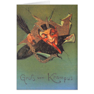 Krampus Grußkarte