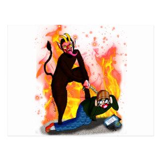 Krampus hasst Hipster!! Postkarte