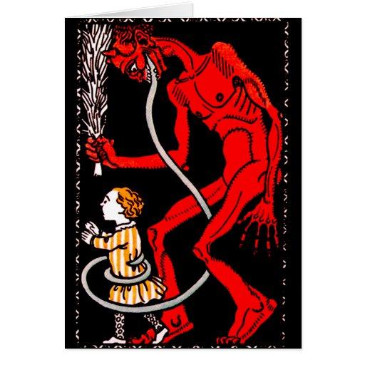 Krampus hat eine lange Zunge Karten