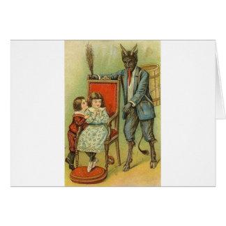 Krampus hat einen Snazzy Anzug Karten