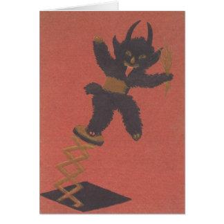 Krampus Jack-In-EIN-Box Grußkarte