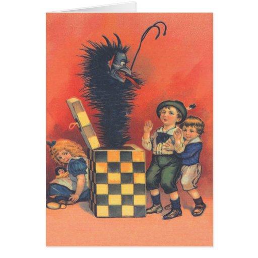 Krampus Jack-In-EIN-Box Karte