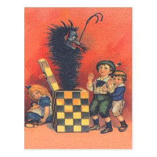 Krampus Jack-In-EIN-Box Postkarte