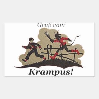 Krampus jagt Kind Rechteckiger Aufkleber