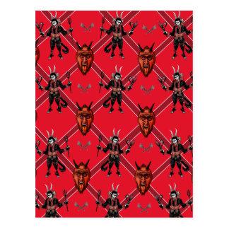 Krampus Kasten-Entwurf Postkarte