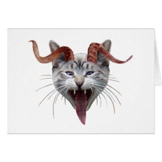 Krampus Katze Grußkarte