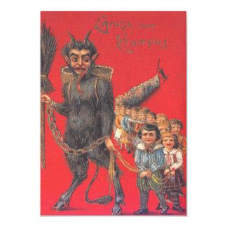 Krampus mit schlechten Kindern 12,7 X 17,8 Cm Einladungskarte
