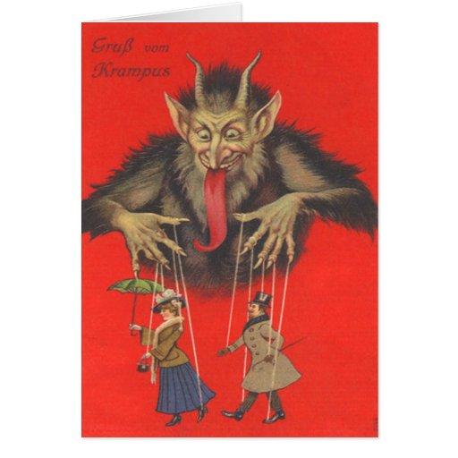 Krampus Puppeteering Erwachsene Karten