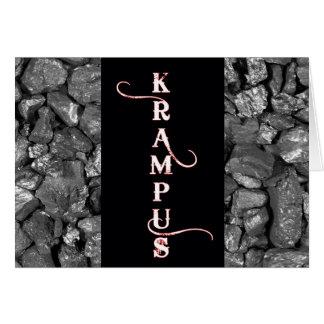 Krampus schwarze Kohlen-Weihnachtskarte Karte