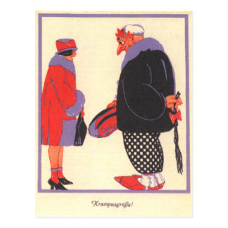 Krampus u. Datum Postkarten