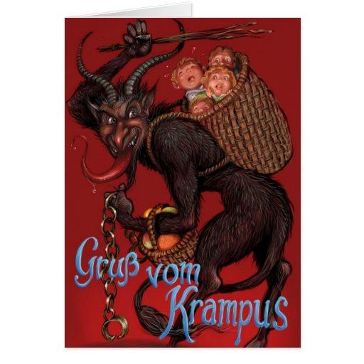 Krampus Weihnachtskarte Grußkarten